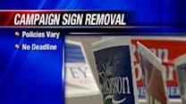 Campaign Sign Removal