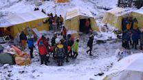 Nepal earthquake triggers avalanche on Mt. Everest base camp