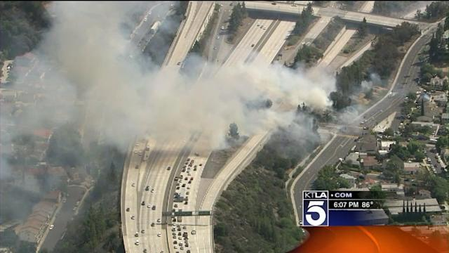Road Closures Around Glendale Fire Creating Travel Nightmare