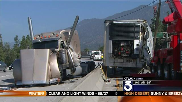 Big-Rig Crash Snarls Traffic on 210 in Monrovia
