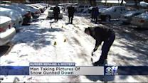 Police Investigate Shooting Of Man Taking Pics Of Snow