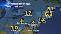 Snow storm hits from Chicago to Boston
