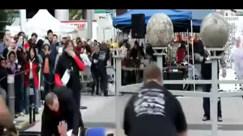 Strongman Crushed By Heavy Boulder