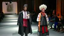 Ukrainian folk costumes showcased at fashion week in Kiev