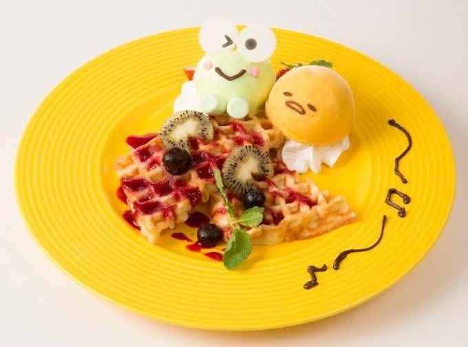 蛋黃哥大眼蛙咖啡鬆餅