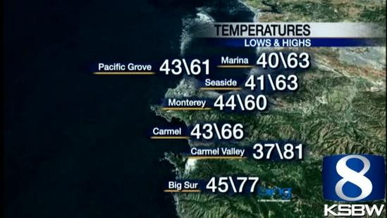 Watch Your KSBW Weather Forecast 04.19.13