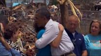 President Obama tours tornado damage in Moore, Oklahoma