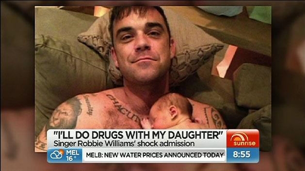 'I'll do drugs with my daughter': Robbie Williams