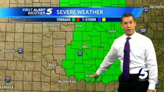 Tornado watch issued for much of Oklahoma