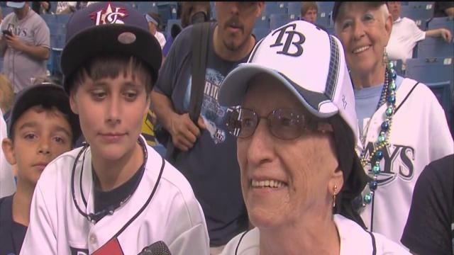 Tampa Bay Rays fans come out to support team on Opening Day 2013