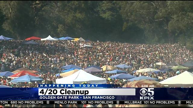 Cleanup Underway After SF '420' Smokeout; 8 Arrested