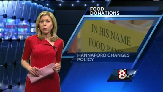 Hannaford adjusts food donation policy