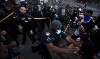 美抗議口號 高喊「我不能呼吸」