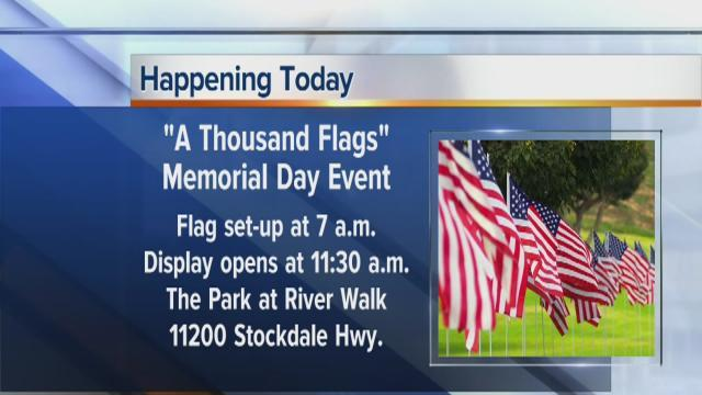 A Thousand Flags to honor our heroes