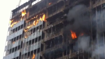 Blaze Rips Through Highrise in Caracas