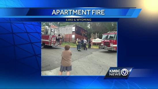 Playground fire spreads to apartment building