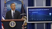 Obama Comments on Falling Unemployment