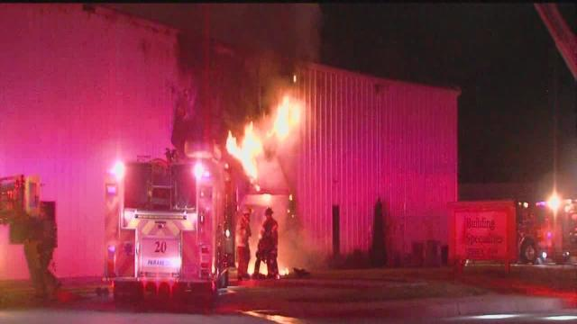 Fire crews from two cities battle early moring building fire