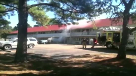 Car catches fire at Ridgeland hotel