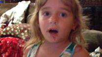 Little Girl Denies Eating Chocolate Donut
