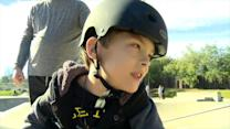 Boy With Cerebral Palsy 'Skates' With Dad