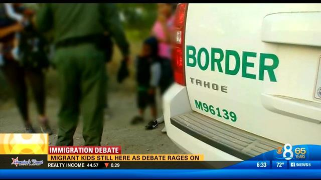 Migrant children still in San Diego as debate rages on