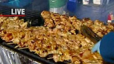 Festival Goers Enjoy A Variety Of Food