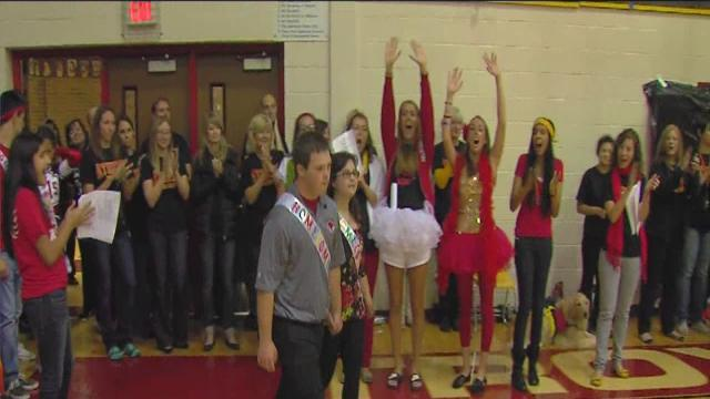 Special homecoming court at Troy Athens High School