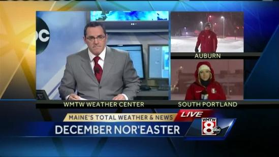 December nor'easter rolls into Maine