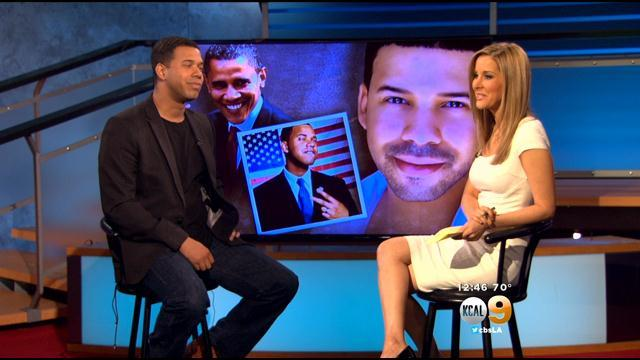 President Obama Impersonator Iman Crosson Visits KCAL9