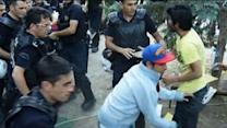 Raw: Turkish Police Clear Protesters From Park