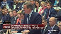 Cameron: Reassuring UK no immediate changes