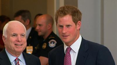 Raw: UK's Prince Harry Visits US Capitol