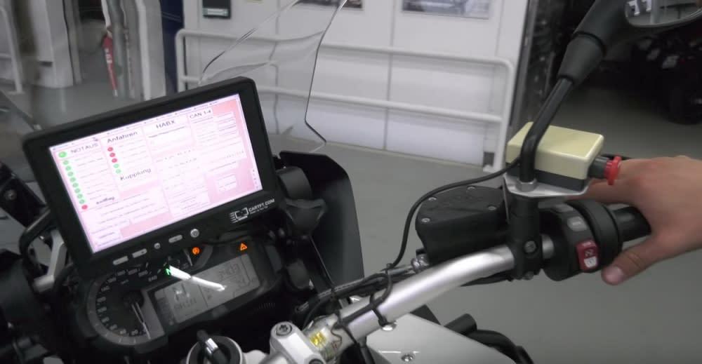 BMW Motorrad希望透過測試收集數據,打造出更安全舒適的機車,最終目的為減少交通事故的發生(圖片來源:BMW Motorrad)
