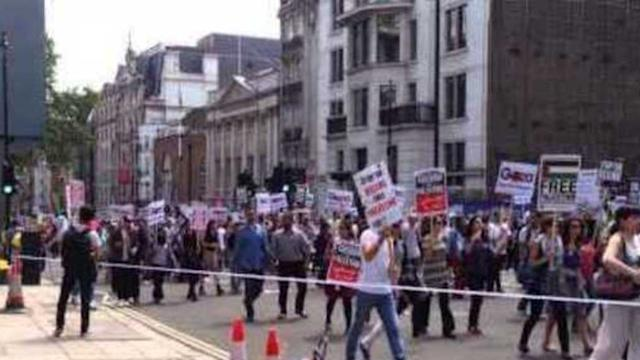 Rally in London in Support of Palestine