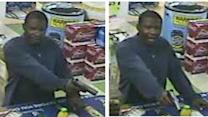 Suspect sought in armed liquor store robbery