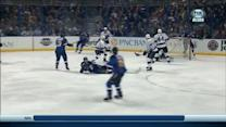 Vladimir Tarasenko goes to his knee for goal