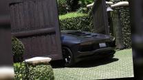 Kanye West's $750,000 Lamborghini Crashes Into Kim Kardashian's Gate