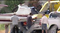 Small Plane Lands Upside Down In California Park