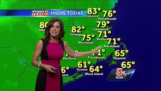 Cindy's Tuesday afternoon Boston-area forecast
