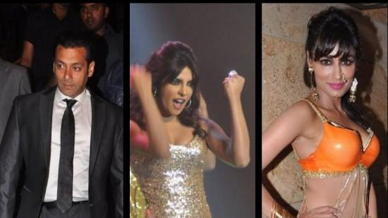 Salman, Priyanka And Chirtrangada's Glamorous Evening