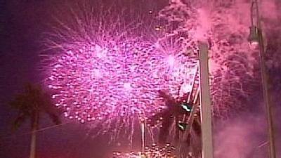 West Palm Beach Celebrates July 4th With Fireworks
