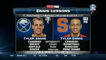 Sabres Tyler Ennis compared to Syracuse's Tyler Ennis