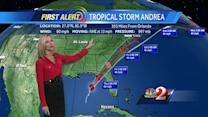 Tornadoes possible as Tropical Storm Andrea approaches Fla.