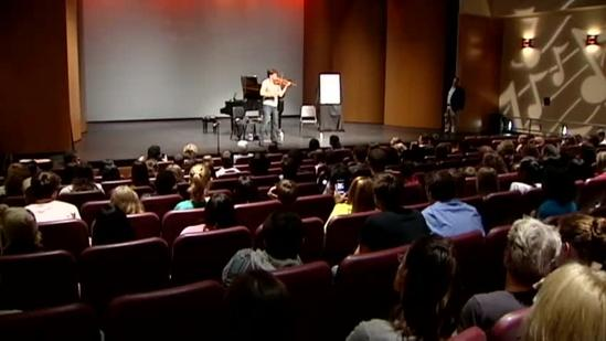 World-famous violinist inspires local students