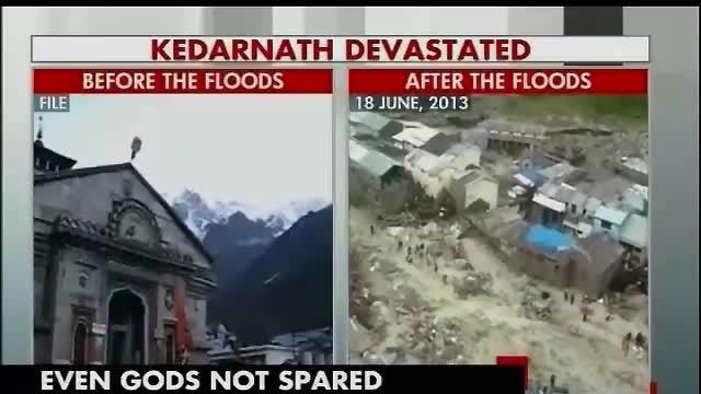 Kedarnath shrine submerged in mud and slush
