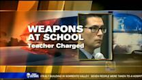 Teacher charged with bringing gun to school