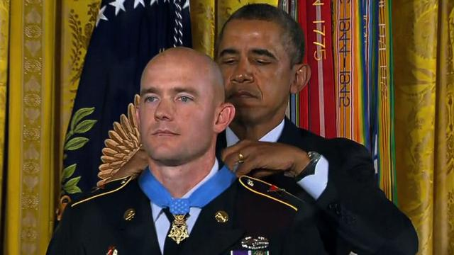 Watch: Sgt. Ty Carter gets medal of honor for Afghan bravery