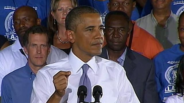 President Obama Pitches Road to Economic Recovery