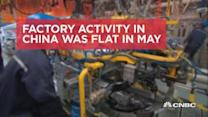 China manufacturing and services PMI fall in May